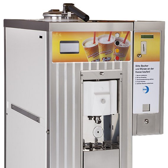 Ice cream machine with coin device